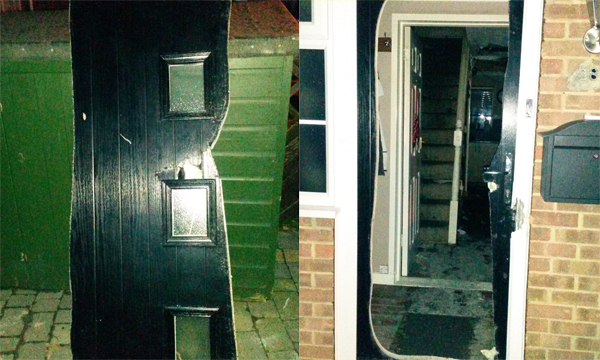 Phoenix Doors - cut piece of door copy & Phoenix Doors\u0027 foam-cored composite door shows its strength   Window ...