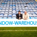 Portsmouth CEO Mark Catlin and Window Warehouse Managing Director Malcolm Cake