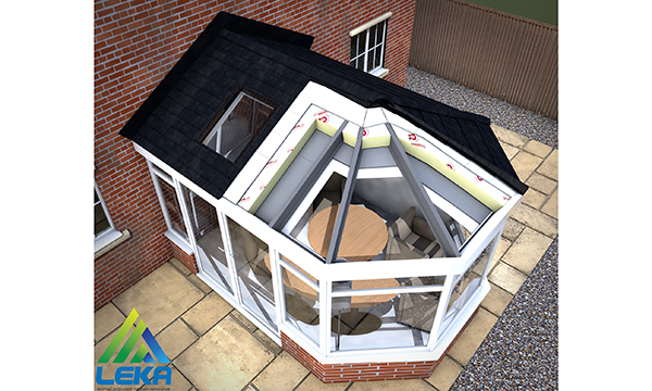 Cross section of the Leka Roof from Window Warehouse
