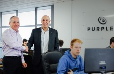 PR128 - Phil Heavey, MD of elumatec UK (left) and Andrew Scott, MD of Pu...