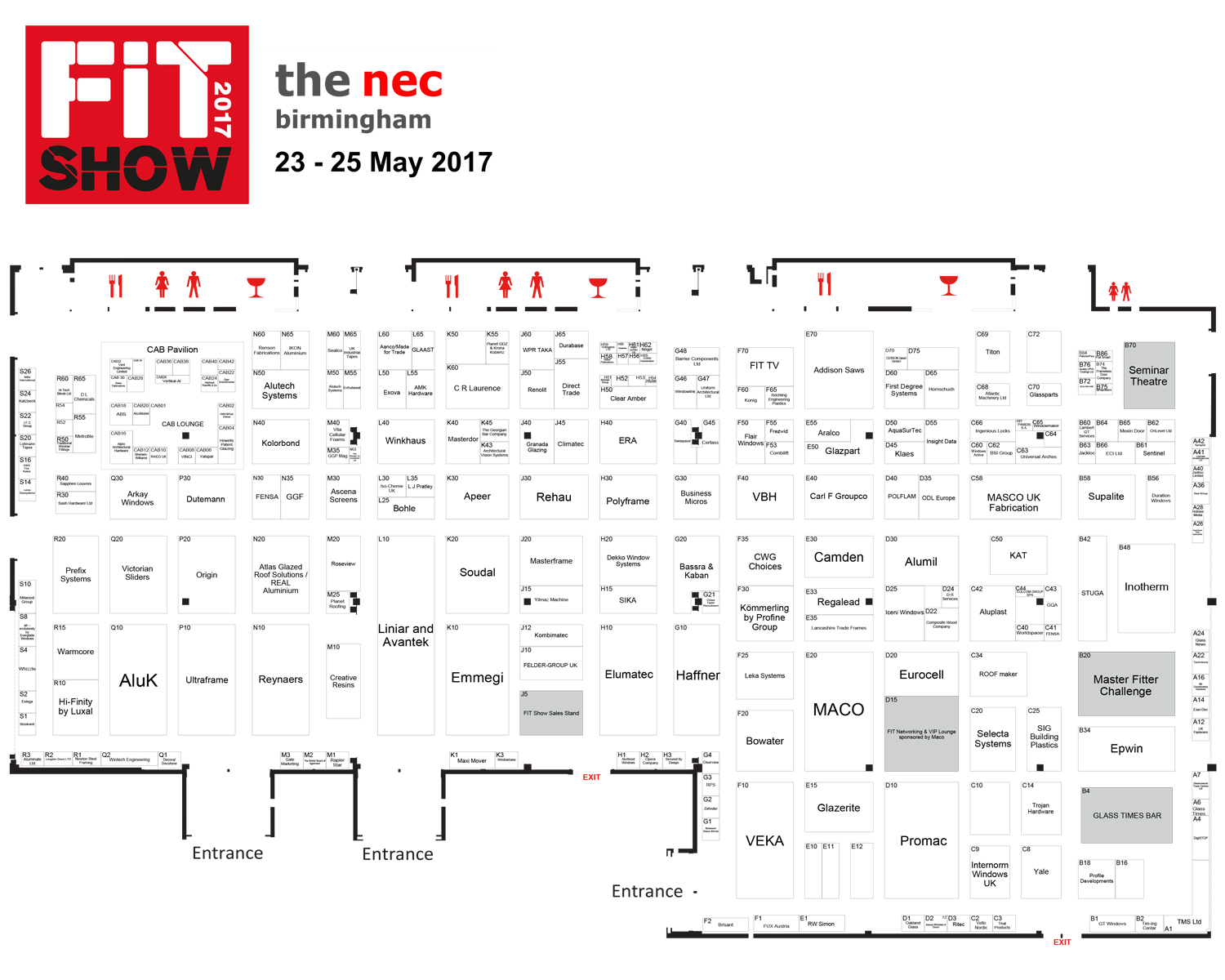 The fit show 2017 interactive map window news for Interactive floor plan map