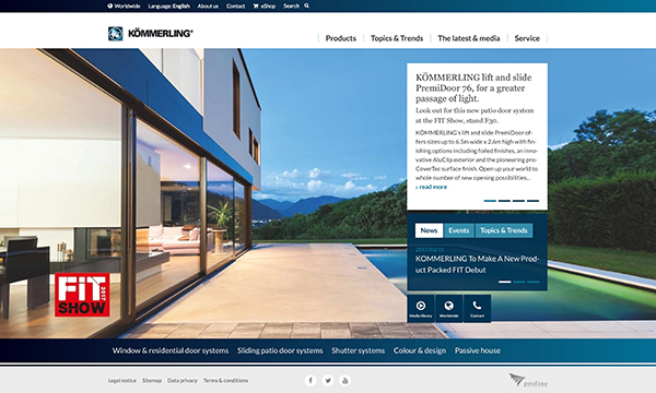 KOMMERLING Deliver Impressive New Website
