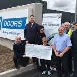 IG Doors cheque presentation