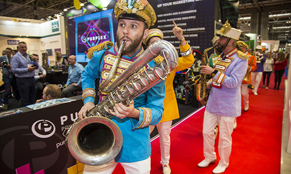 Ultraframe's marching band was one of the highlights of 'BIG Tuesday' at this year's FIT Show