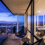 Show Apartment B11.3 Terrace at Night