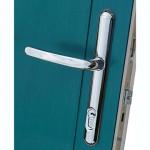 New Lock Lock handle on Solidor Peacock Blue composite door