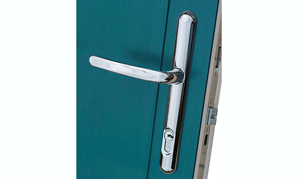 New Lock Lock handle on Solidor Peacock Blue composite door