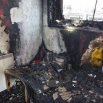 Fire damage in Marlborough Towers