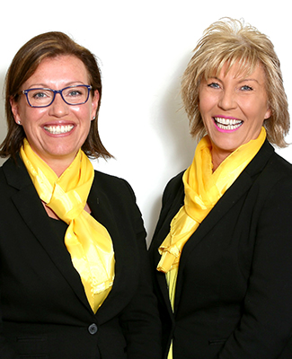 Emma Wells (left) and Judith Burrows (right) Jackloc Directors