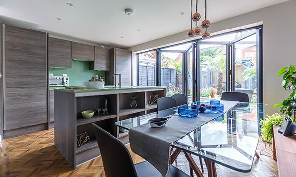 PR374 - RÄUM aluminium bi-fold doors featured on ITV Love your Home & Ga...