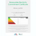 Rehau Limited Renewable Energy Commitment Certifcate