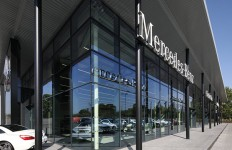 mercedes car showroom - Senior