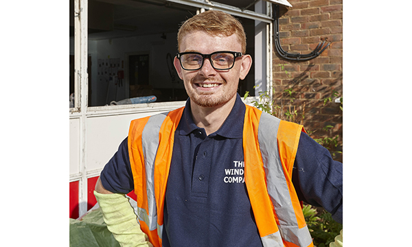 TWC206 James McGuire is the newly appointed apprentice at The Window Company (Contracts)