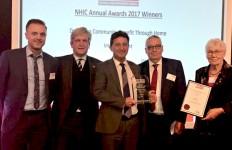 PR502 - Norman Hornigold and John Savage collecting NHIC Award