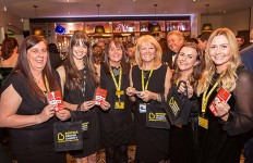 The fundraising team of the Beatson Cancer Charity at the 2017 Lanarkshire Business Community Gala Dinner.
