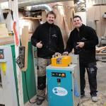 Gary Hill (L) and Ian Lant (R) of Original Wooden Windows Ltd