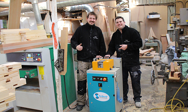 Gary Hill (L) and Ian Lant (R) of Original Wooden Windows Ltd