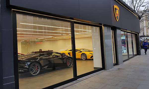 Top Gear for Lamborghini Showroom
