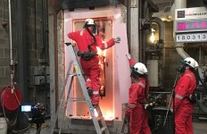 Bluesky Certification Fire Door in testing with Cambridge Fire Reasearch