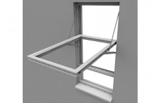 Liniar Reversible Window with text