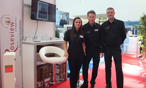 PR197 - Roseview at Fensterbau 2018 - Stacey Calvert, Willie Kerr and Gary McGibbon
