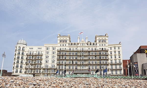 UK, The Grand Hotel in Brighton.
