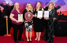 IAI - (left to right) Teresa McQuay, Samantha Thatcher, Amanda Haley and Maria Powell accepting on behalf of Sarah Lewis