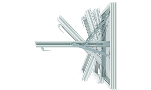 MILA355 Mila is launching the Aura range of hinges for fully reversible windows