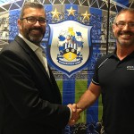 Quickslide Chairman Adrian Barraclough & Huddersfield Town Commercial Director Sean Jarvis