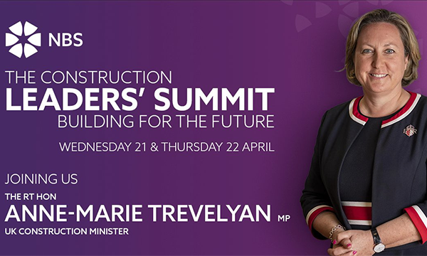 The Construction Leaders' Summit 'Building For The Future' To Take Place Next Week