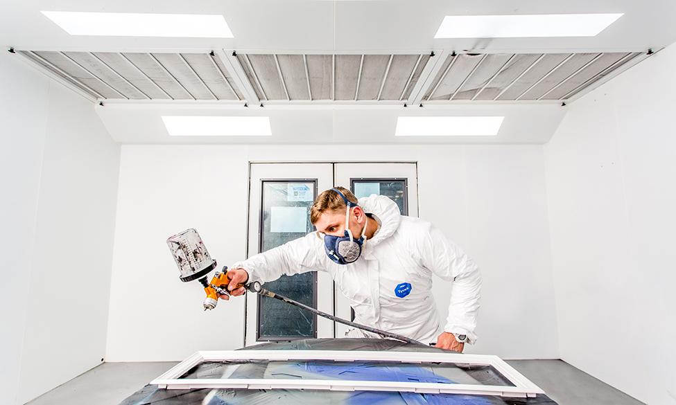 Distinction Doors Expands Paint Shop