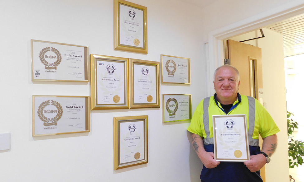 Deceuninck UK Recognised For Outstanding Health And Safety With RoSPA President's Award