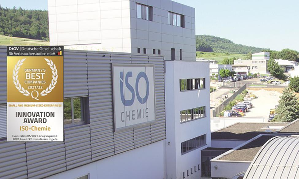 ISO-Chemie Wins International Innovation Award