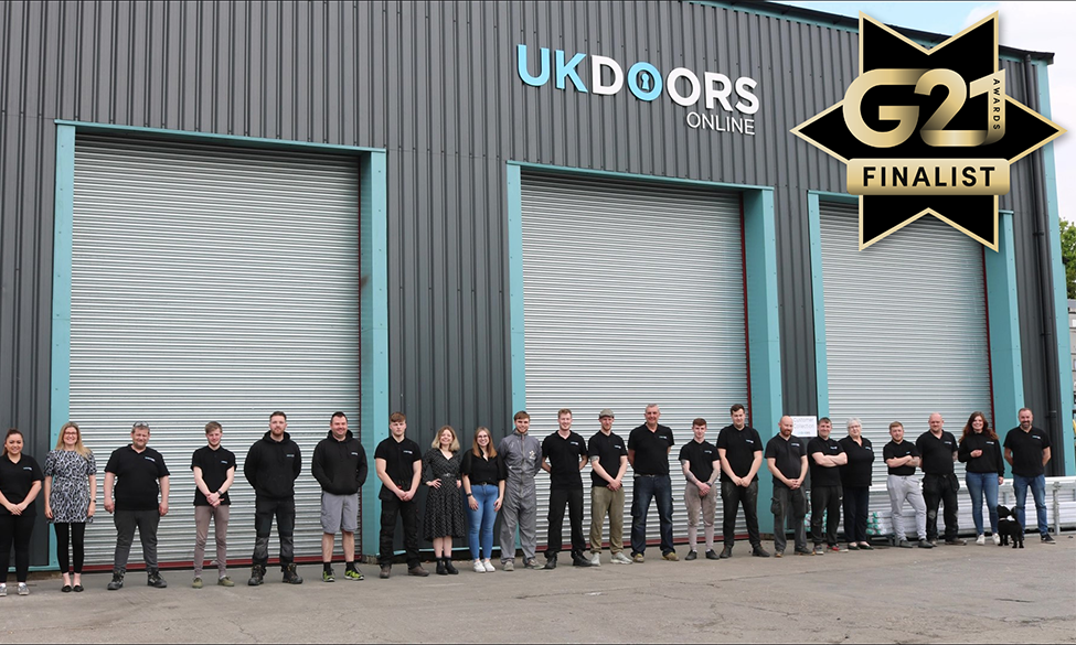 UK Doors Online Up For Best Fabricator At G21